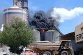 Incendio de gran magnitud afectó cementera