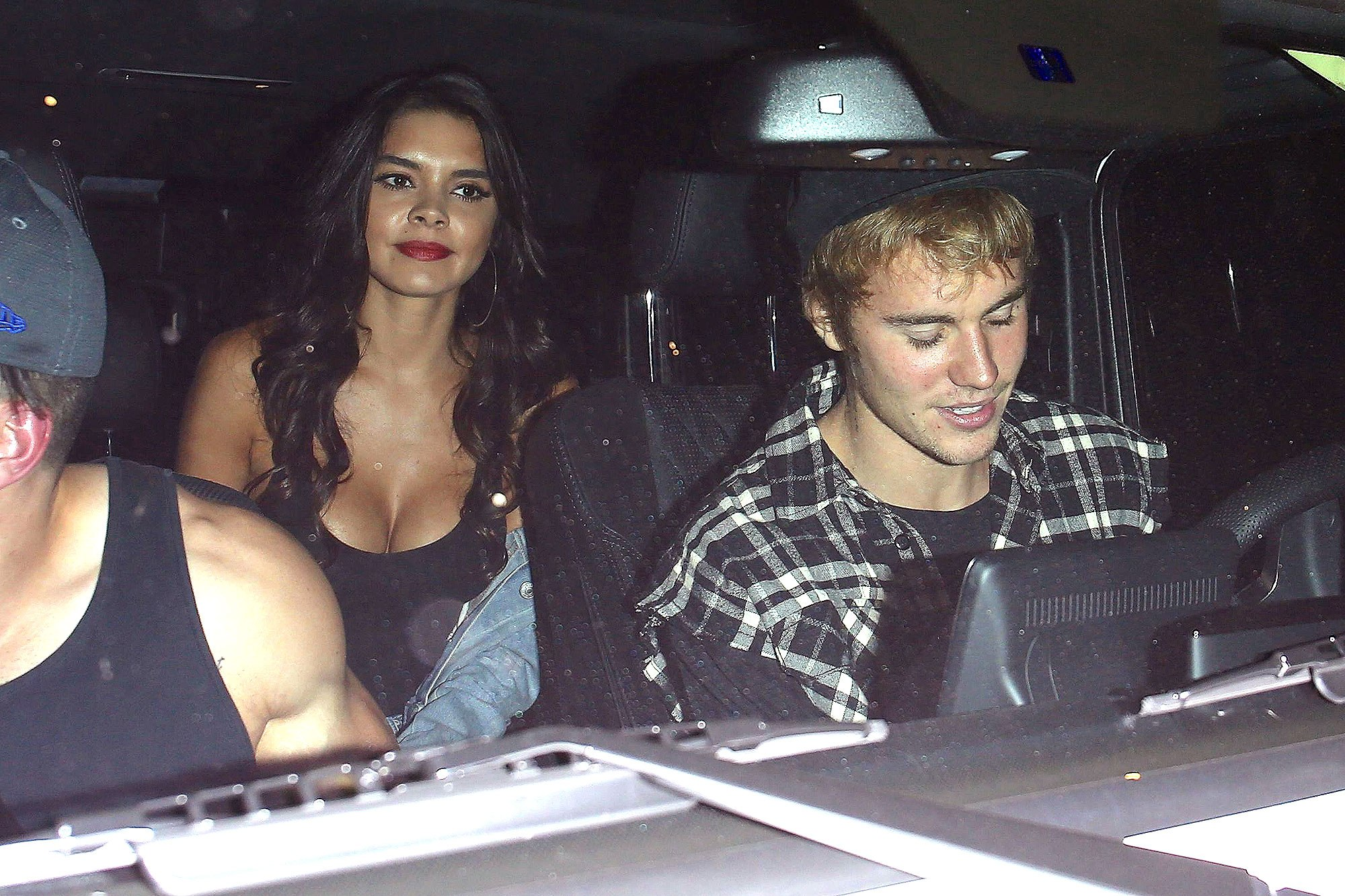 Justin Bieber exits church with mystery woman in Los Angeles. Pictured: justin beiber Ref: SPL1594955 041017 Picture by: Deby / Splash News Splash News and Pictures Los Angeles:310-821-2666 New York:212-619-2666 London:870-934-2666 photodesk@splashnews.com