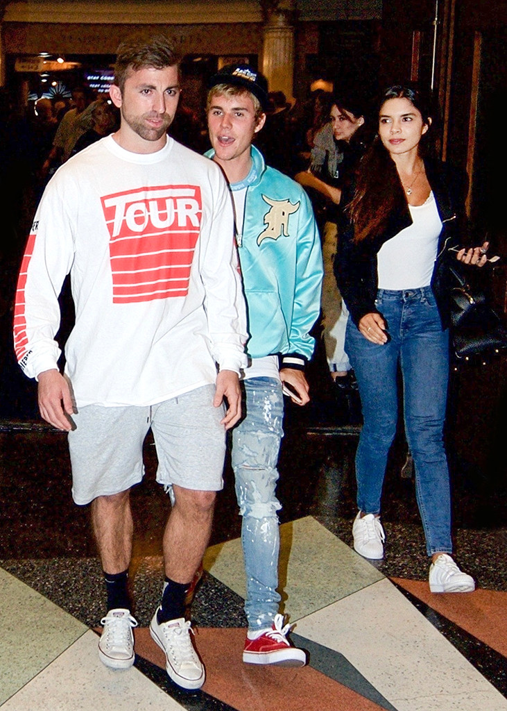 """Beverly Hills, CA - Justin Bieber exits church with Paola Paulin on a Wednesday night. He is hard to miss in a bright blue bomber jacket. He is seen with Paola Paulin and she's a 20-something model and actress living in Miami. Paulin was born in Mexico but raised in Medellin, Colombia before moving to the U.S. and becoming a model. Shortly after modeling for events like SwimWeek and Mercedes Fashion Week, Paulin landed a voiceover gig on """"South Park"""" and then a two episode stint on HBO's """"Ballers"""" playing the memorable role of Michelle. Pictured: Justin Bieber, Paola Paulin BACKGRID USA 27 SEPTEMBER 2017 BYLINE MUST READ: BKNY / BACKGRID USA: +1 310 798 9111 / usasales@backgrid.com UK: +44 208 344 2007 / uksales@backgrid.com *UK Clients - Pictures Containing Children Please Pixelate Face Prior To Publication*"""