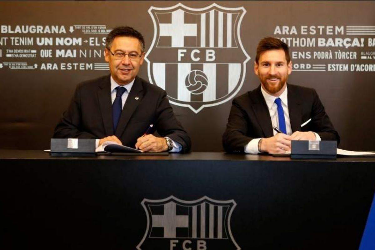 Messi renueva con el Barça hasta el 2021