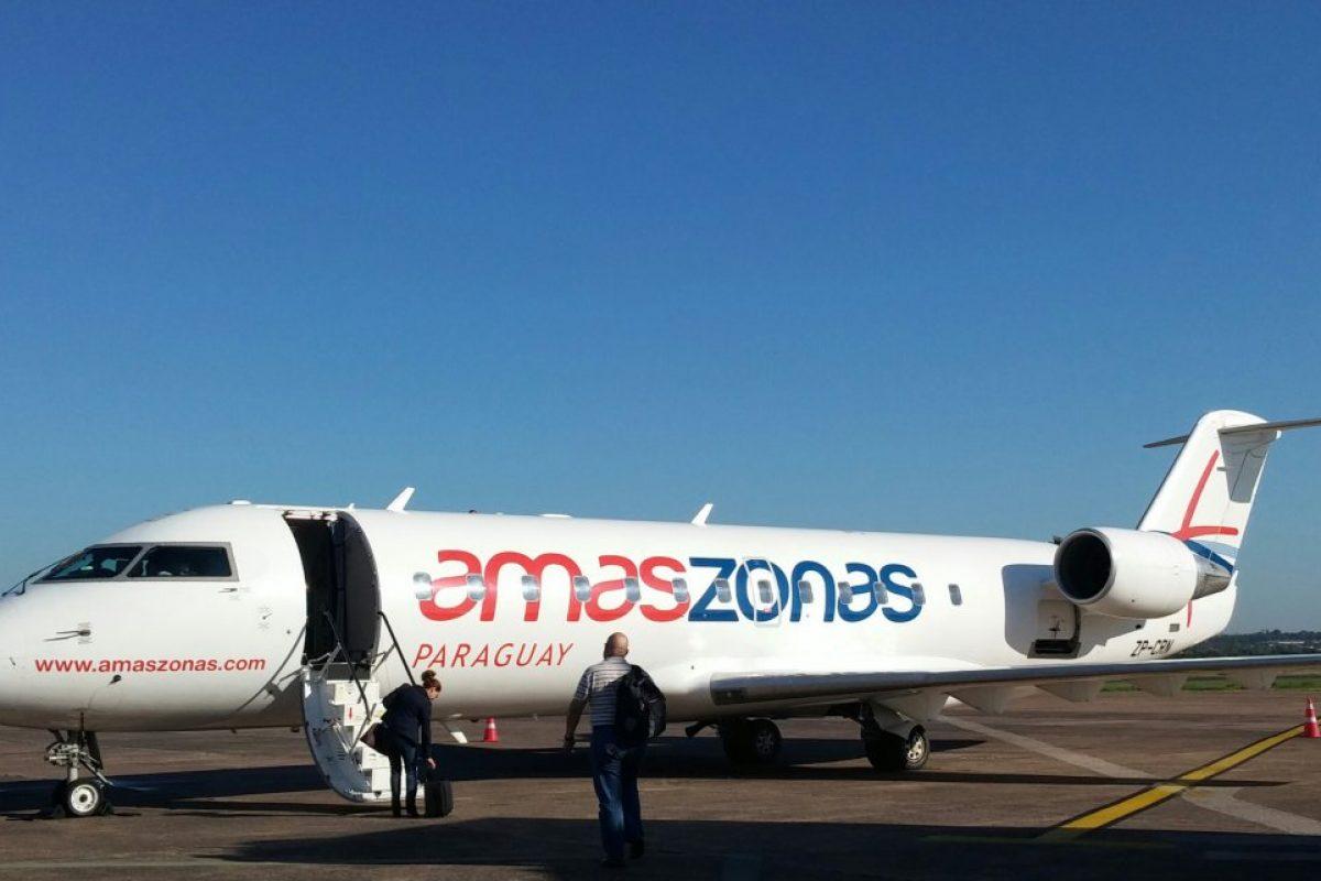 Vuelo inaugural Asunción a Corrientes con Amaszonas aerolíneas