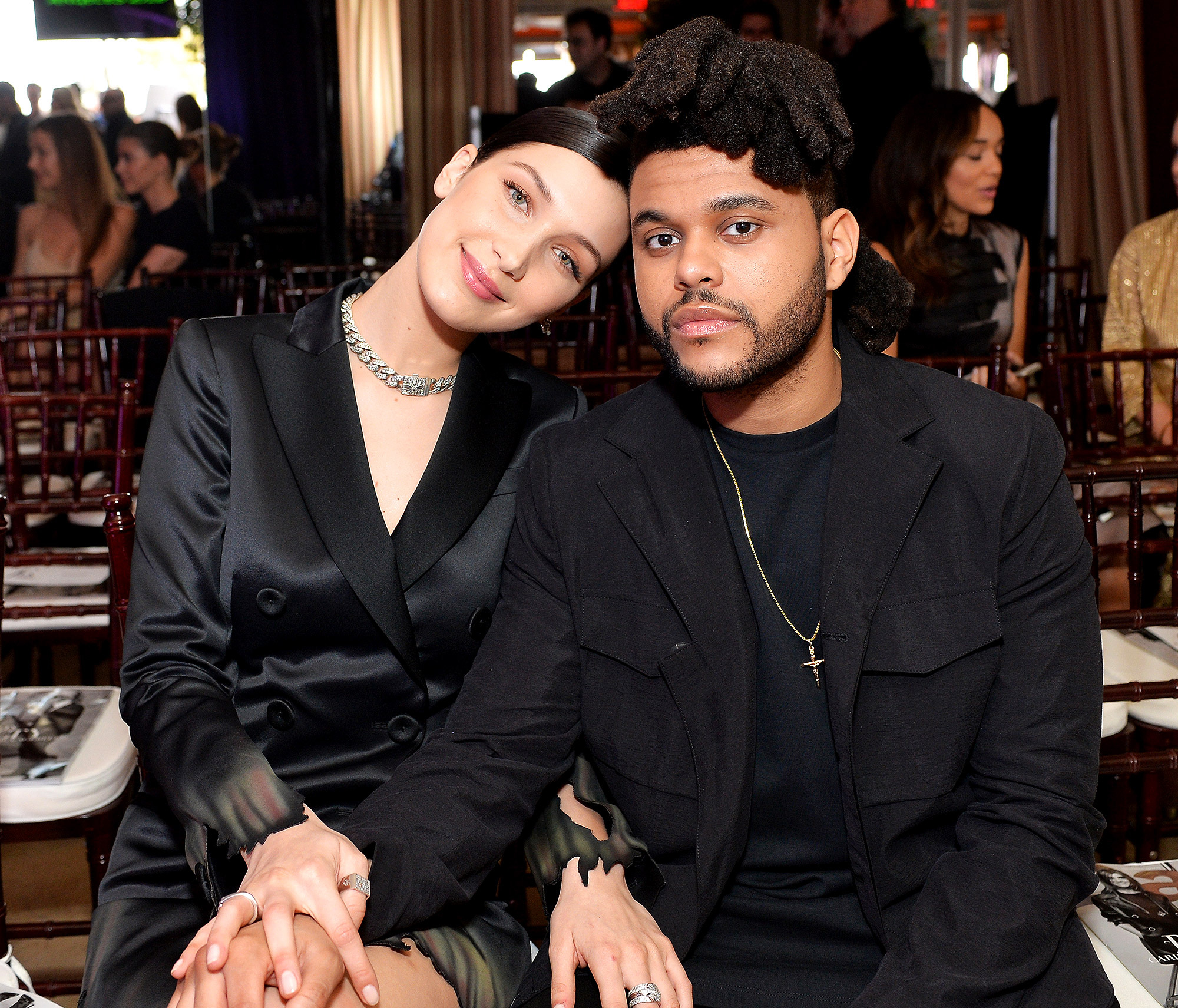 "WEST HOLLYWOOD, CA - MARCH 20: EXCLUSIVE COVERAGE Model of the Year Honoree Bella Hadid (L) and Abel ""The Weeknd"" Tesfaye attend The Daily Front Row ""Fashion Los Angeles Awards"" 2016 at Sunset Tower Hotel on March 20, 2016 in West Hollywood, California. (Photo by Stefanie Keenan/Getty Images for The Daily Front Row)"