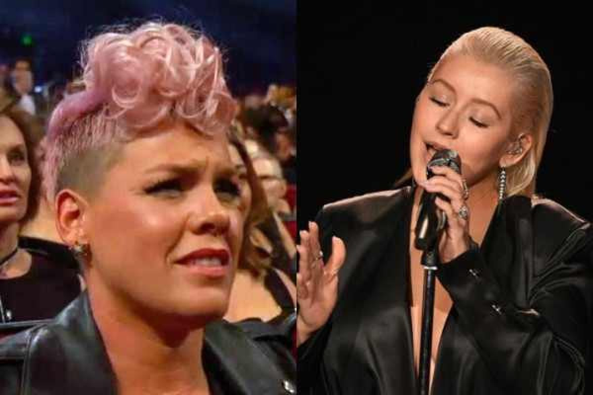 AMAs 2017: Pink niega hacer mueca durante la presentación de Christina Aguilera