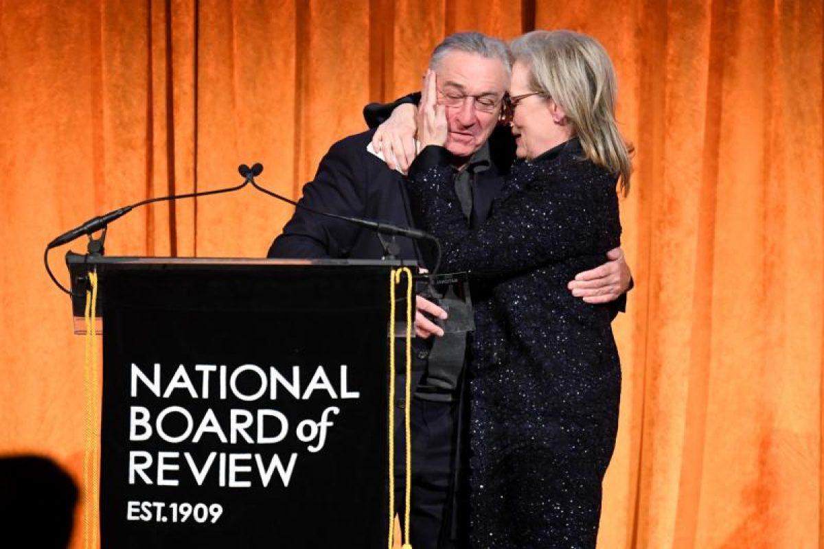 El beso entre Robert De Niro y Meryl Streep