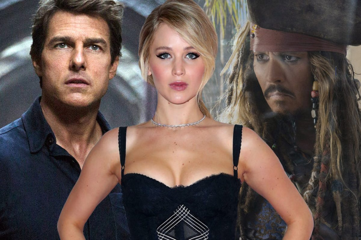 Jennifer Lawrence, Tom Cruise y Johnny Deep entre los peores actores del año