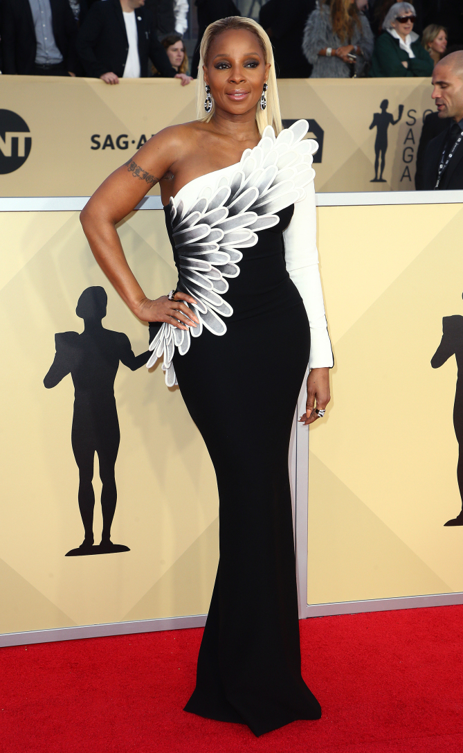 Mandatory Credit: Photo by John Salangsang/Shutterstock (9327718jw) Mary J. Blige 24th Annual Screen Actors Guild Awards, Arrivals, Los Angeles, USA - 21 Jan 2018