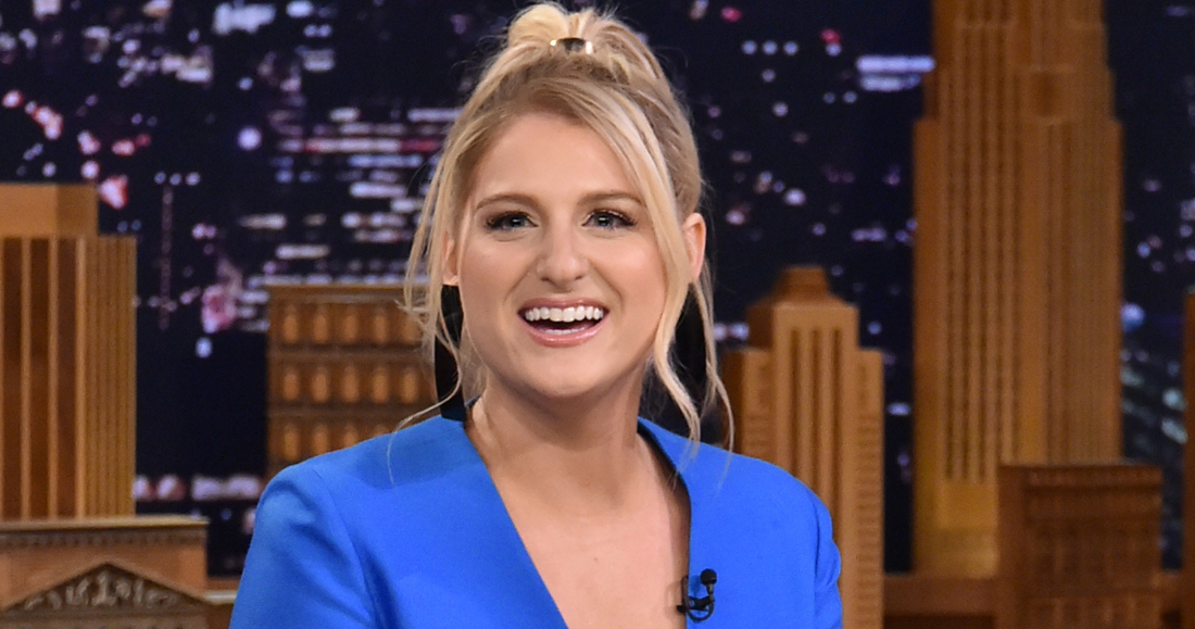 """NEW YORK, NY - JANUARY 24:  Singer/songwriter Meghan Trainor visits """"The Tonight Show Starring Jimmy Fallon at Rockefeller Center on January 24, 2018 in New York City.  (Photo by Mike Coppola/Getty Images)"""