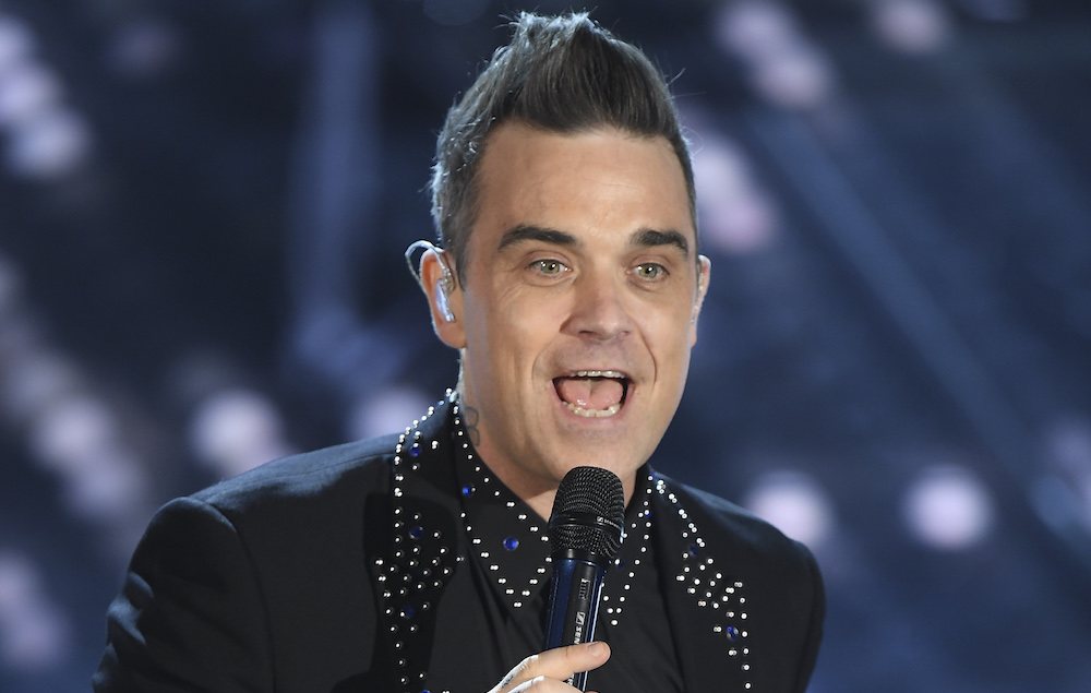 SANREMO, ITALY - FEBRUARY 08: Robbie Williams attends the second night of the 67th Sanremo Festival 2017 at Teatro Ariston on February 8, 2017 in Sanremo, Italy. (Photo by Venturelli/Getty Images)