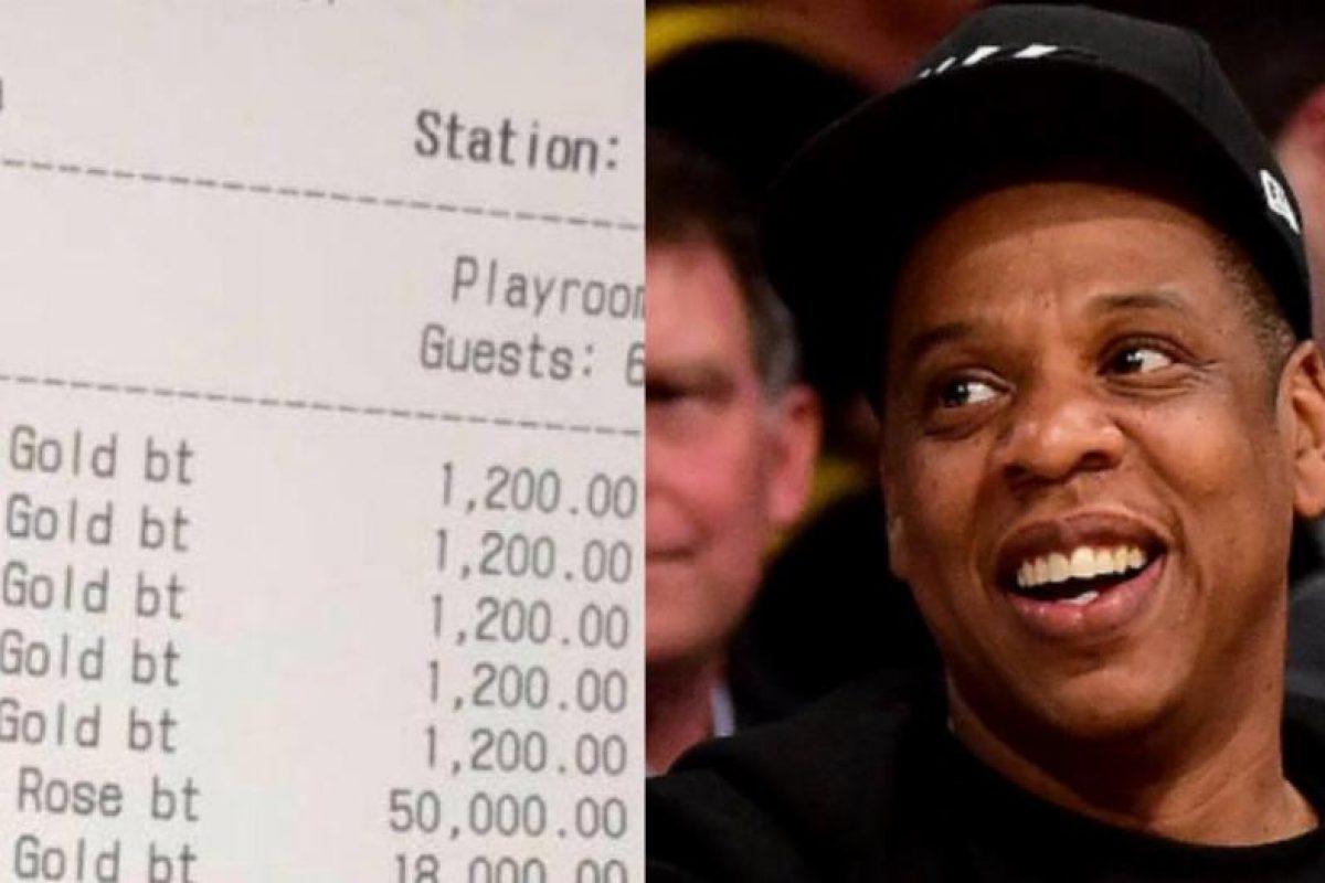 Jay Z dejó 11.000 dólares de propina a una mesera en NYC