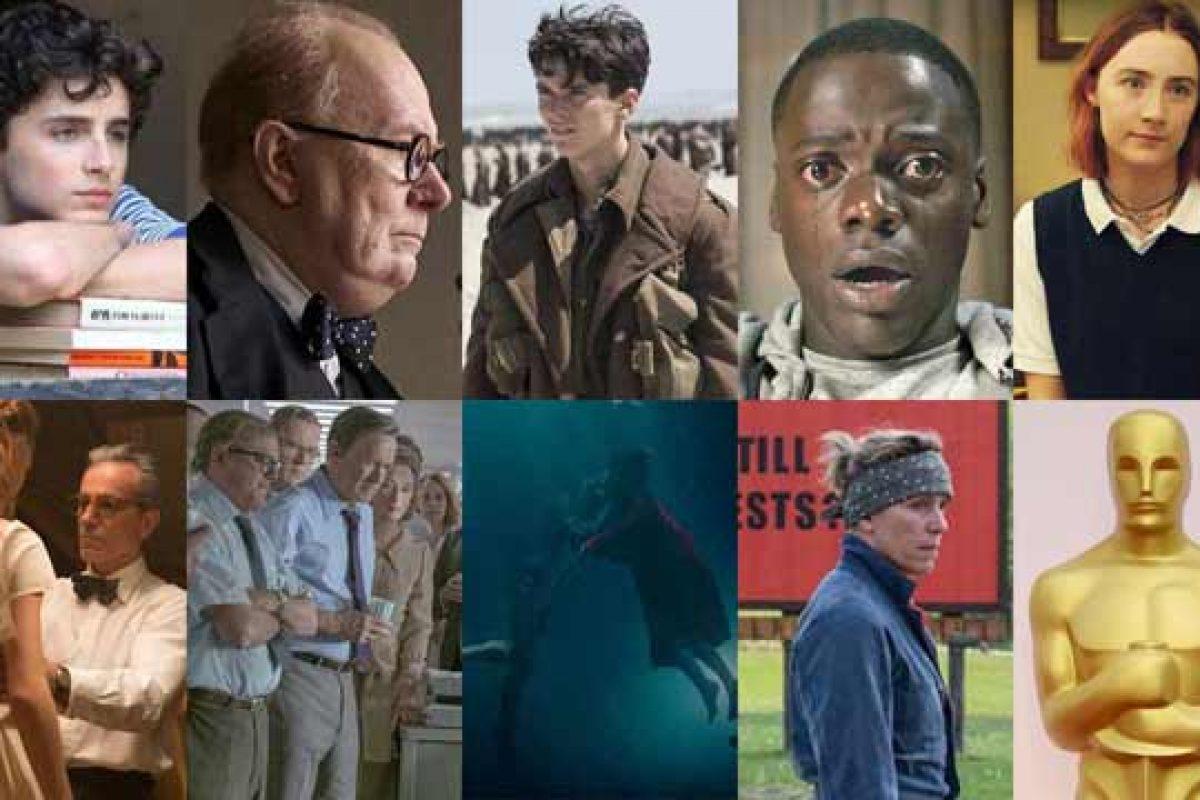 """Los 9 films nominados a """"Mejor Película"""" en los Oscar 2018"""