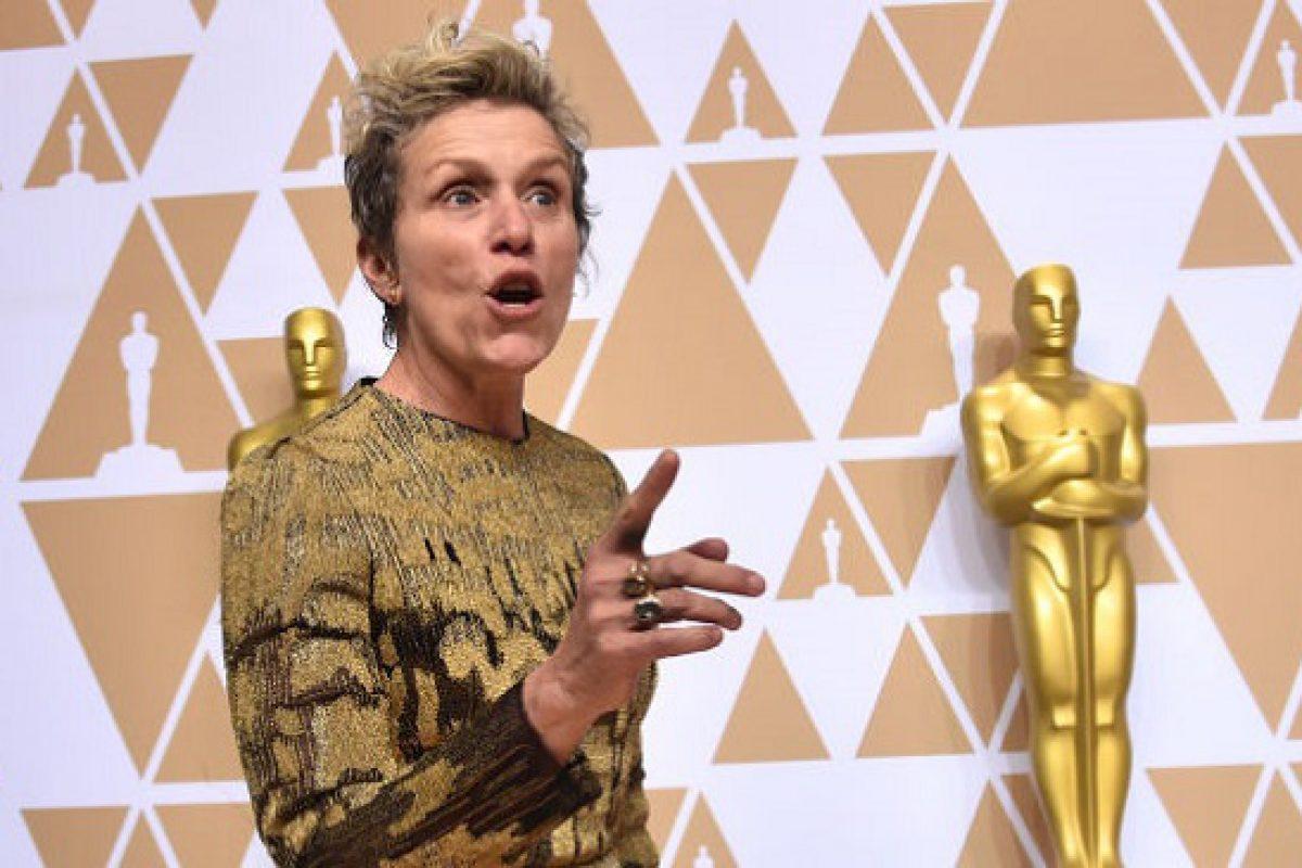 Hombre intentó robar el Oscar de Frances McDormand