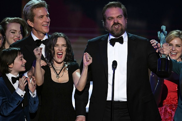 onstage during The 23rd Annual Screen Actors Guild Awards at The Shrine Auditorium on January 29, 2017 in Los Angeles, California. 26592_014