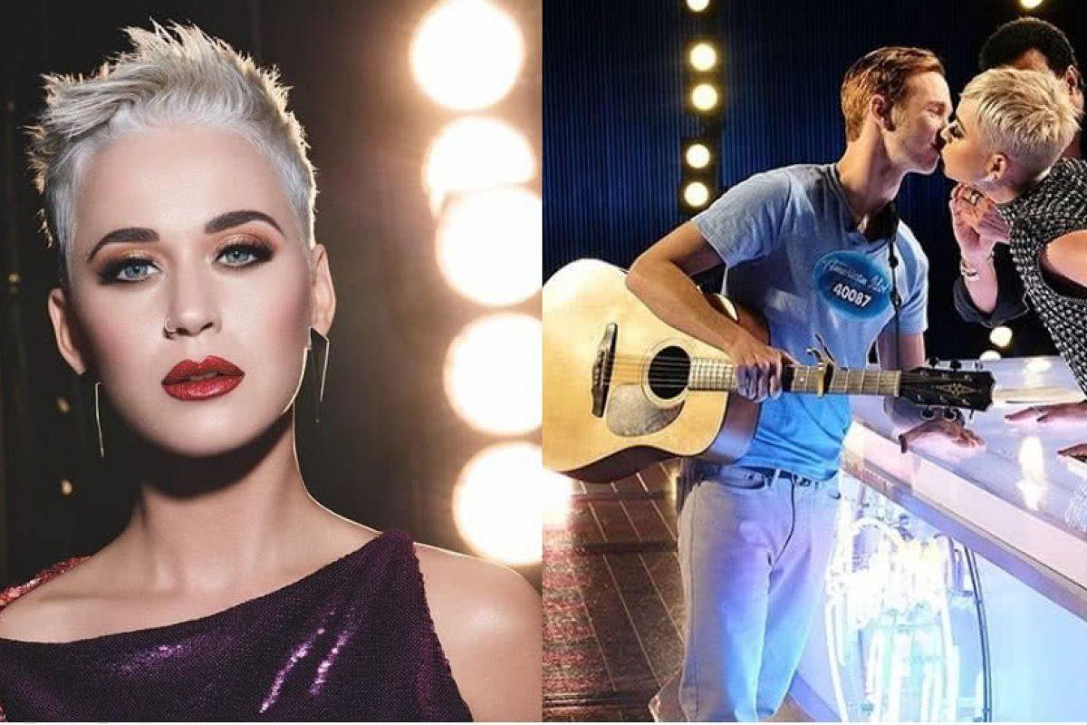 Katy Perry robó un beso a un concursante de American Idol