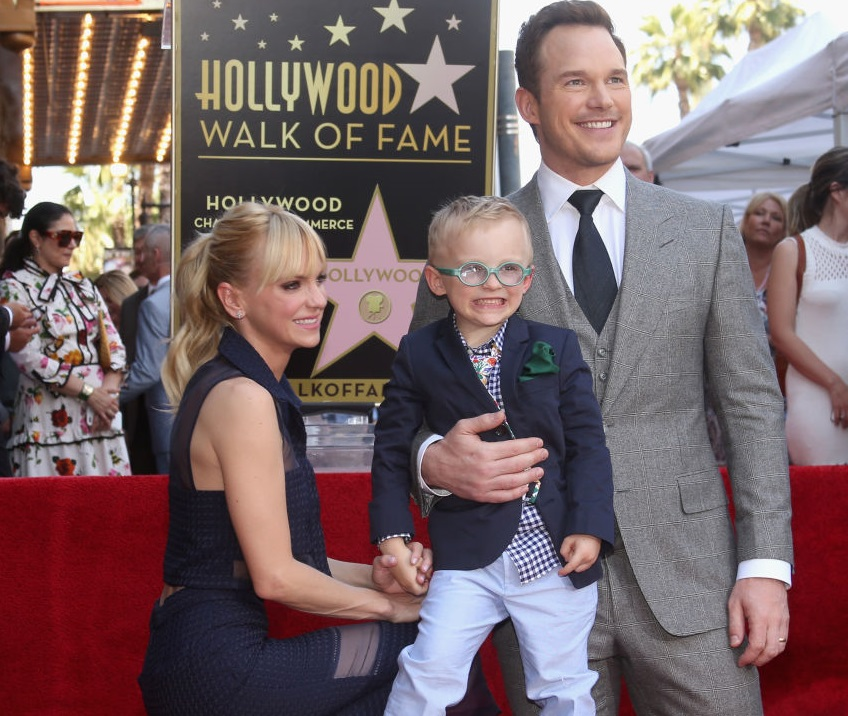 at the Chris Pratt Walk Of Fame Star Ceremony on April 21, 2017 in Hollywood, California.