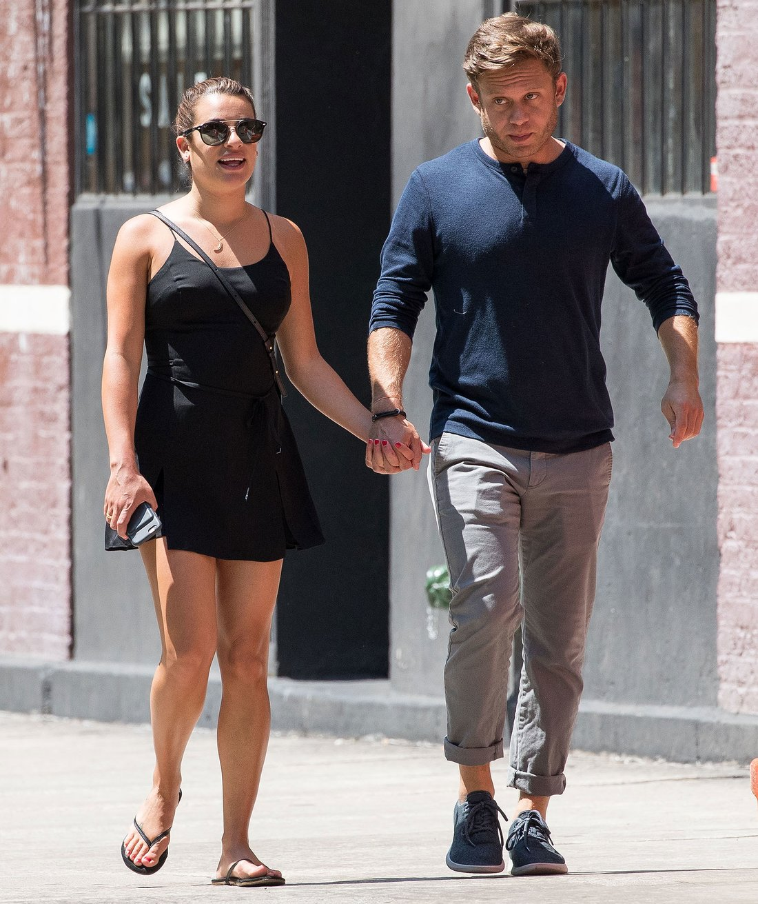 07/18/2017 PREMIUM EXCLUSIVE: NEW COUPLE ALERT! Lea Michele is spotted holding hands with Zandy Reich in New York City. Lea stepped out in a little black dress and held hands tightly with Reich, the president of AYR, a women's clothing company. Michele was seen just days after the four-year anniversary of the untimely death of her past love interest and Glee co-star, Cory Monteith. Please byline:TheImageDirect.com *EXCLUSIVE PLEASE EMAIL sales@theimagedirect.com FOR FEES BEFORE USE