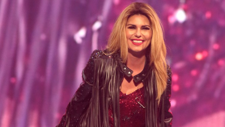 """Singer-songwriter Shania Twain performs in concert during her """"Rock This Country Tour 2015"""" at the Wells Fargo Center on Wednesday, July 22, 2015, in Philadelphia. (Photo by Owen Sweeney/Invision/AP)"""