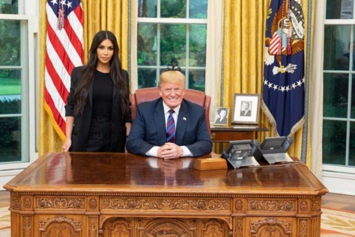 Kim Kardashian y Donald Trump se reunieron en la Casa Blanca