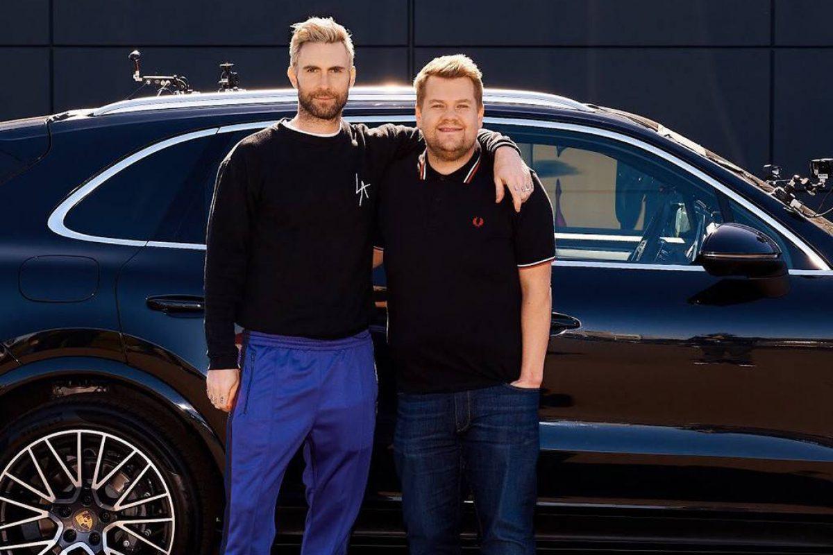 Adam Levine estuvo en el Carpool Karaoke de James Corden
