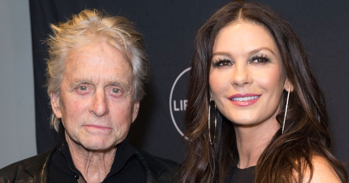 Michael Douglas and Catherine Zeta-Jones attend Lifetime Cocaine Godmother screening at Neuehouse. (Photo by Lev Radin/Pacific Press/LightRocket via Getty Images)