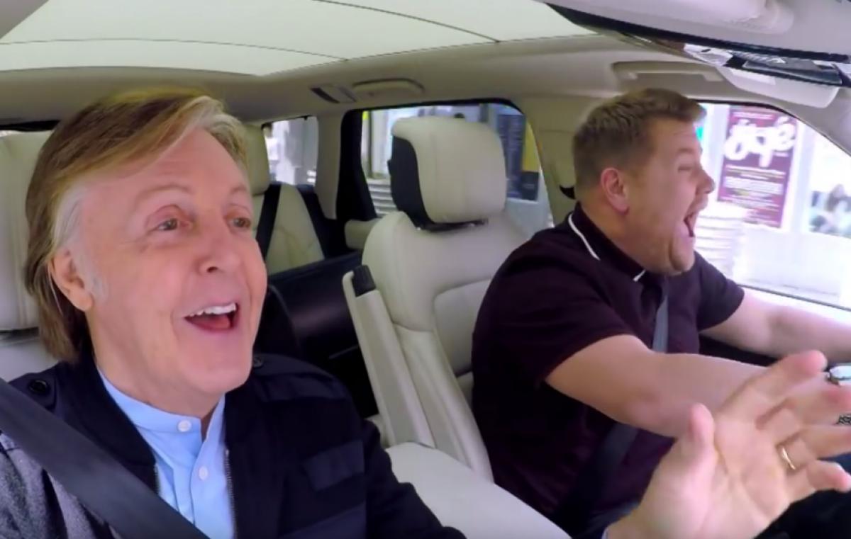 Mirá a Paul McCartney en el Carpool Karaoke junto a James Corden