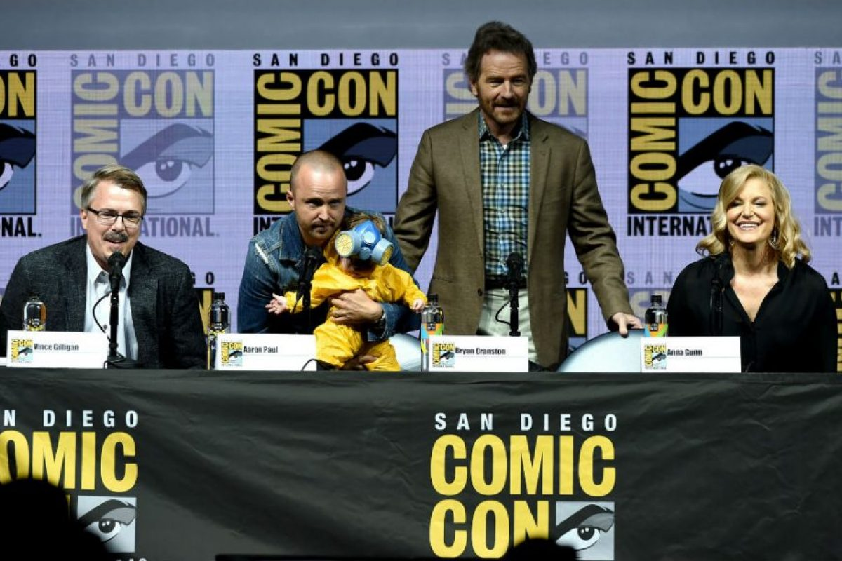 El elenco de Breaking Bad volvió a reunirse en la Comic Con