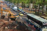 Suspenden obras del metrobús