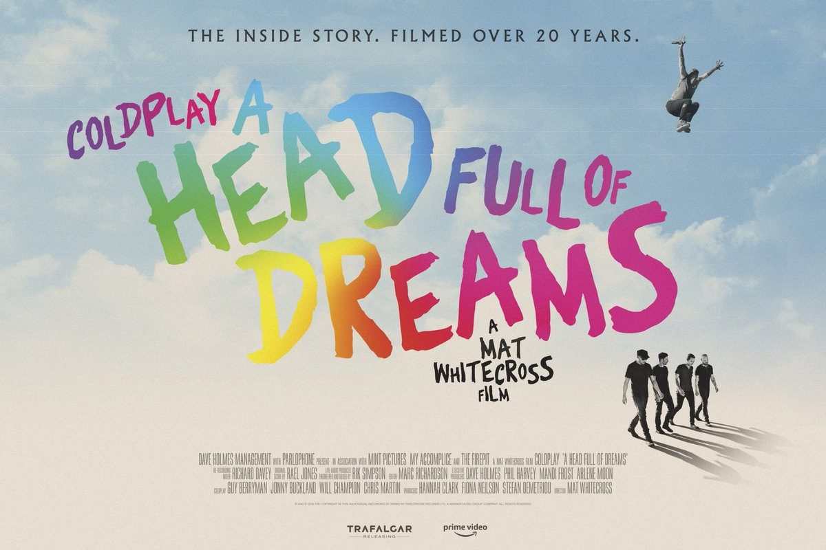 Coldplay anunció el lanzamiento de su película-documental: A Head Full of Dreams
