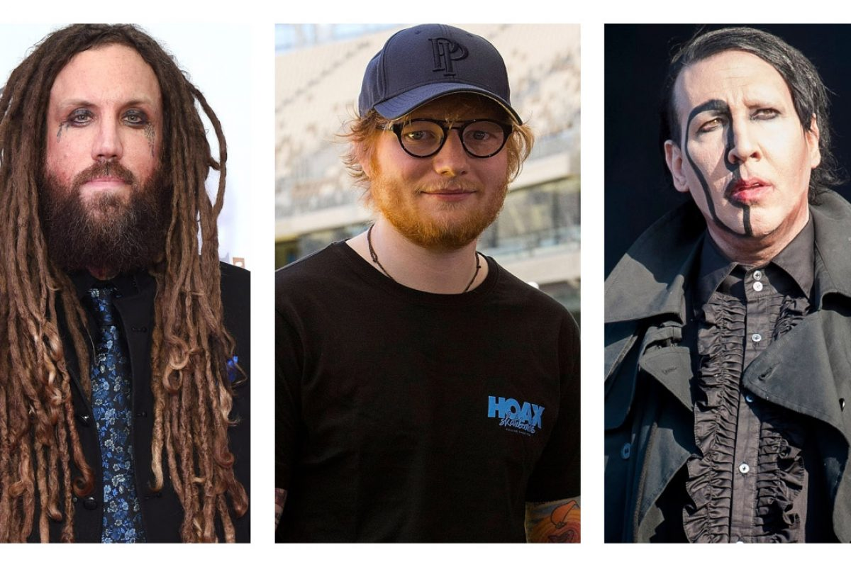 Ed Sheeran confesó ser fan de Marilyn Manson y Korn