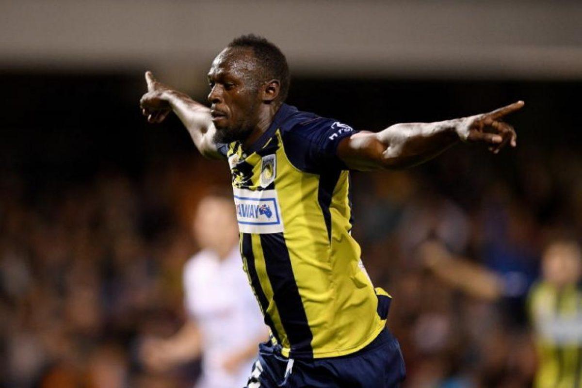 Usain Bolt marcó su primer gol como jugador profesional de fútbol