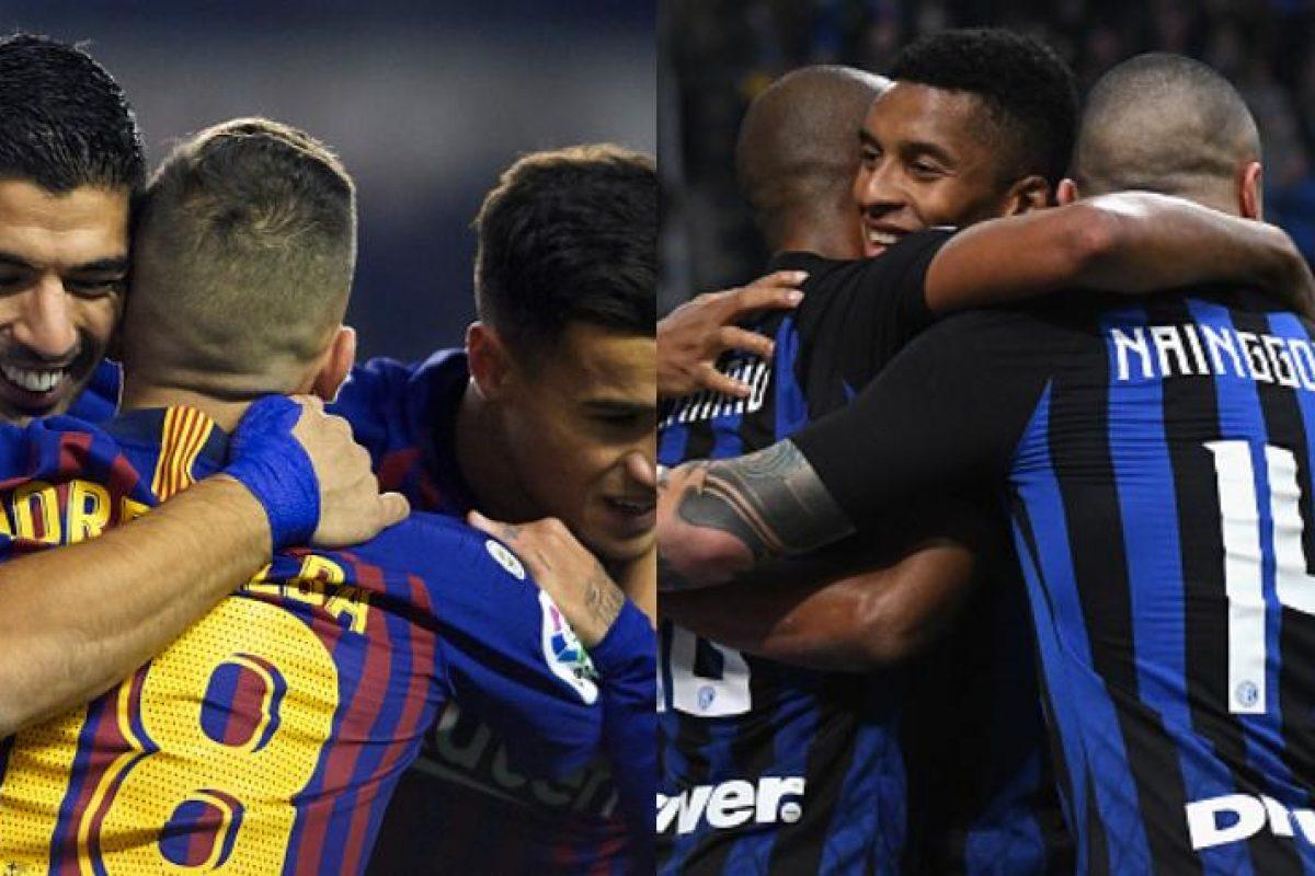 Inter de Milán y el Barça se miden hoy en Italia