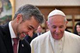 """El Papa Francisco pidió a Mario Abdo inspirarse a trabajar por """"la paz y unidad"""""""
