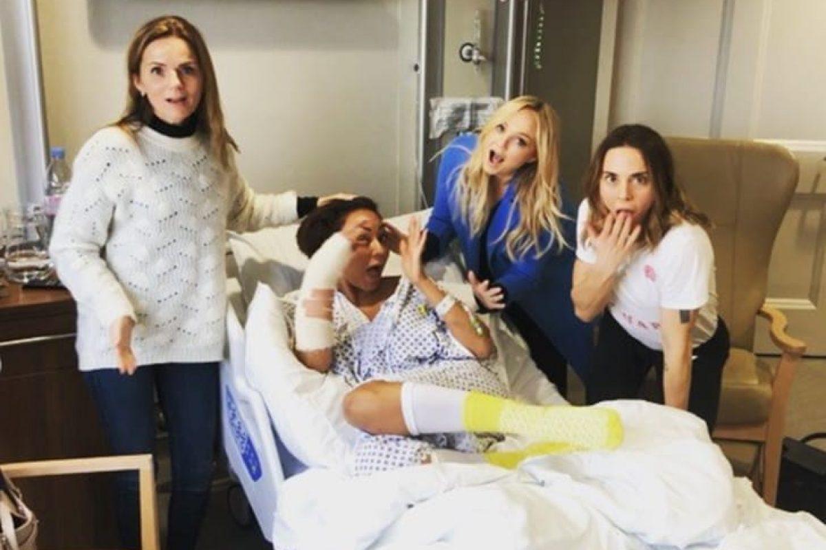 Mel B fue hospitalizada tras fracturarse la mano y romperse las costillas