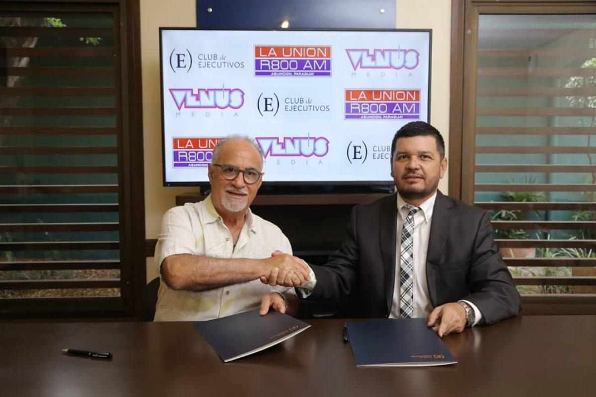 Firma de convenio entre Grupo Venus Comunicaciones y el Club de Ejecutivos del Paraguay