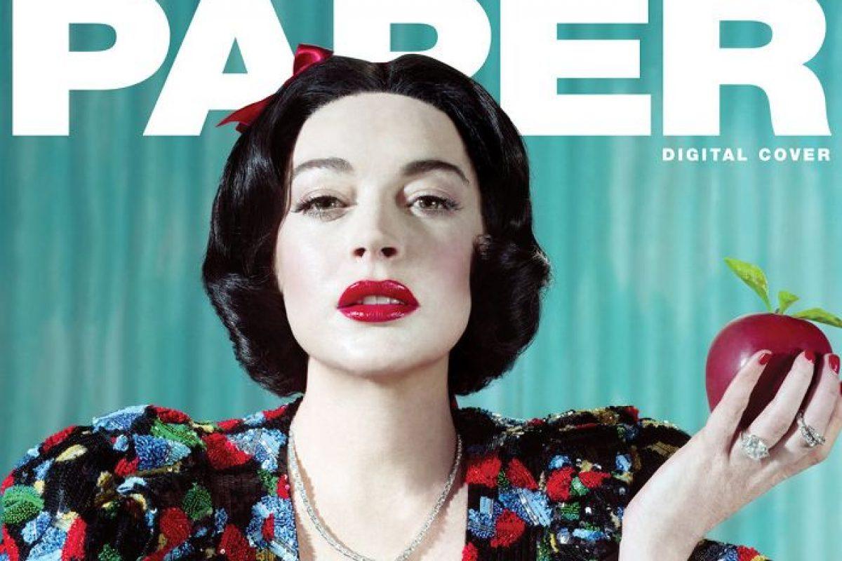 Lindsay Lohan se transformó en las princesas de Disney para la revista PAPER