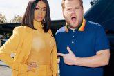 Mirá a Cardi B participar en el Carpool Karaoke junto a James Corden