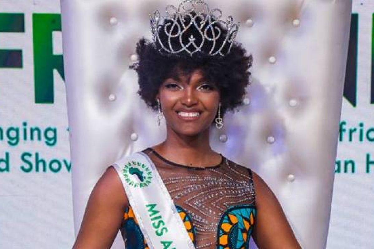 Miss África se incendió a causa de los juegos pirotécnicos tras su coronación
