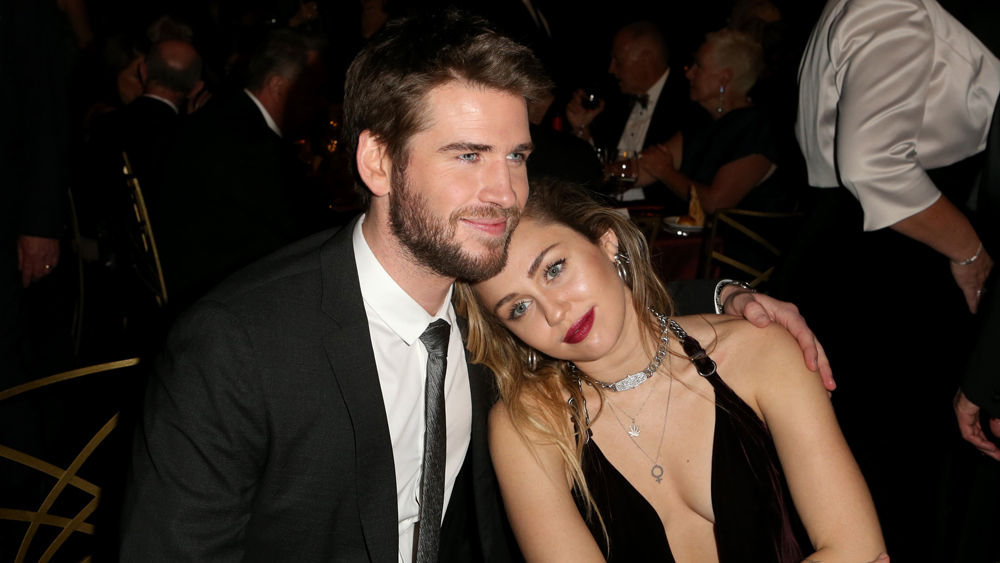 Mandatory Credit: Photo by David Buchan/Variety/REX/Shutterstock (10073443t) Liam Hemsworth and Miley Cyrus G'Day USA Gala, Inside, 3Labs, Los Angeles, USA - 26 Jan 2019