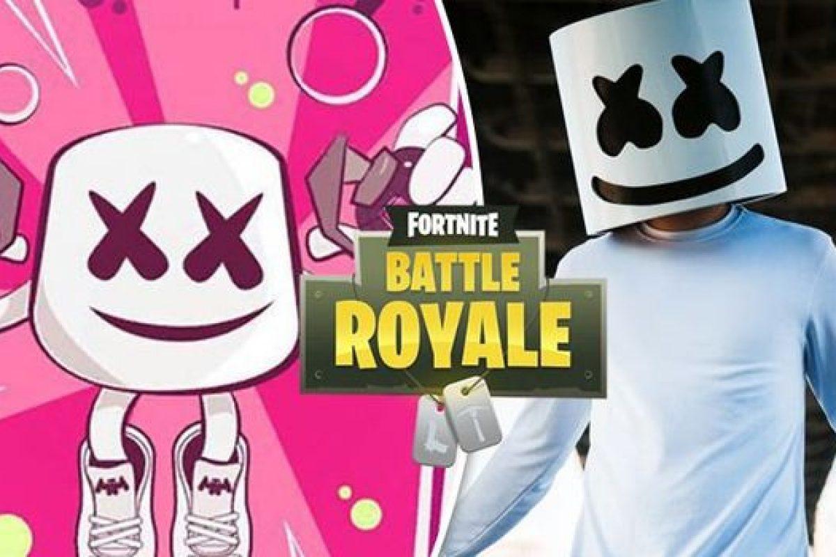 """Marshmello realizó un show virtual dentro del juego de moda """"Fortnite"""""""