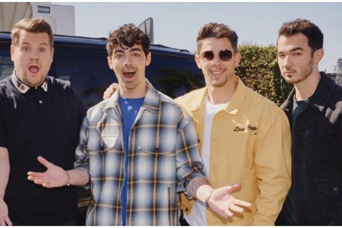Tras anunciar su regreso, los Jonas Brothers estarán en el carpool Karaoke de James Corden