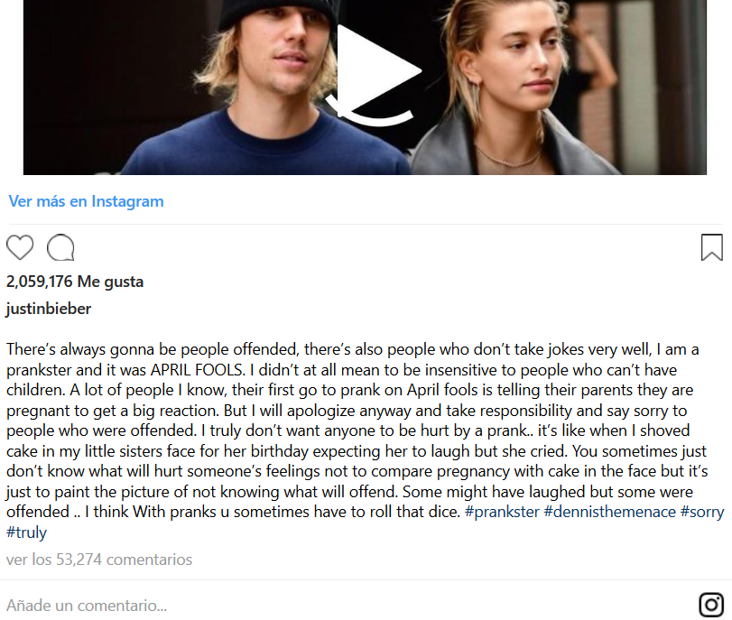Screenshot_2019-04-02 Justin Bieber apologized for his April Fools' Day pregnancy prank gone wrong
