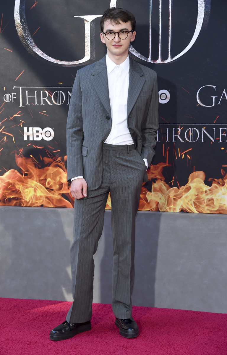"NEW YORK, NEW YORK - APRIL 03: Isaac Hempstead Wright attends the ""Game Of Thrones"" Season 8 Premiere on April 03, 2019 in New York City. (Photo by Jamie McCarthy/WireImage,)"
