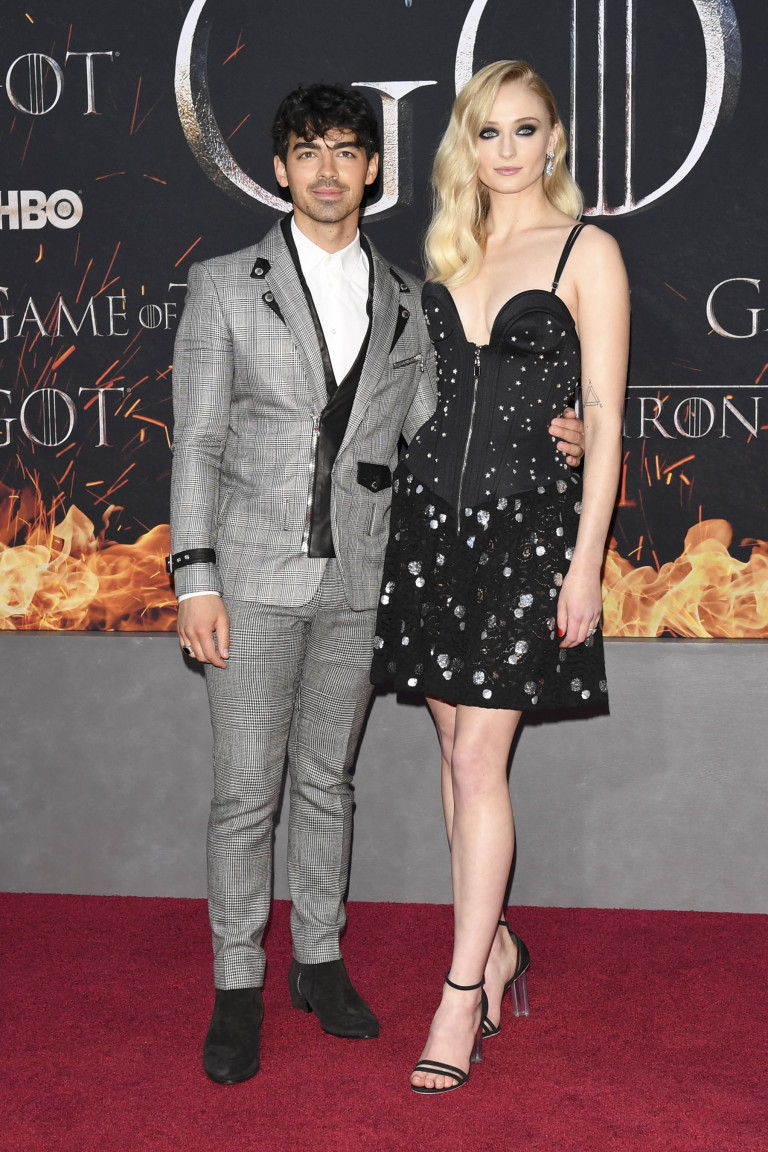 Mandatory Credit: Photo by Andrew H. Walker/Variety/REX/Shutterstock (10185767ae) Joe Jonas and Sophie Turner 'Game of Thrones' season eight premiere, Arrivals, New York, USA - 03 Apr 2019