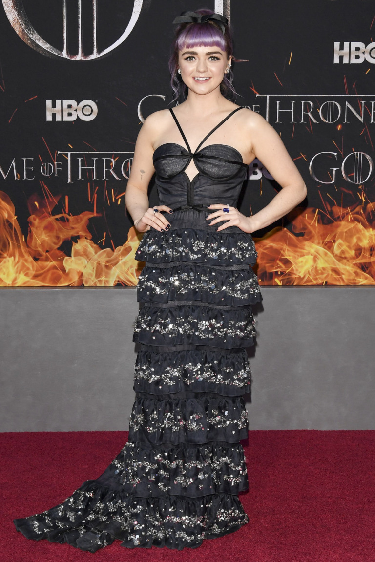 Mandatory Credit: Photo by Andrew H. Walker/Variety/REX/Shutterstock (10185767s) Maisie Williams 'Game of Thrones' season eight premiere, Arrivals, New York, USA - 03 Apr 2019